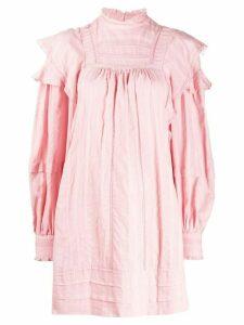 Isabel Marant Étoile smock short dress - PINK