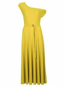 Norma Kamali dropped shoulder flared dress - Green
