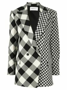 PortsPURE double breasted checked blazer - Black
