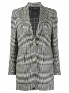 Ermanno Scervino dogtooth single-breasted blazer - Black