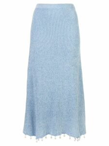 Staud Roger knitted skirt - Blue