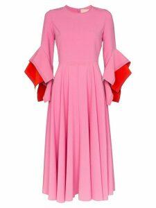 Roksanda Origami sleeves midi dress - PINK
