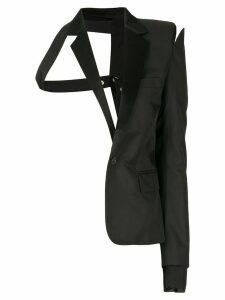 Unravel Project deconstructed half blazer - Black