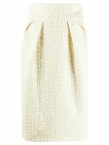 Alexandre Vauthier woven midi skirt - NEUTRALS