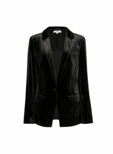 Womens **Tall Black Velvet Blazer, Black