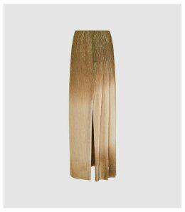 Reiss Emmeline - Metallic Maxi Skirt in Gold, Womens, Size 14