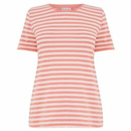 Warehouse Stripe Cotton Fitted T-Shirt