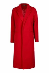 Womens Tailored Coat - S, Red