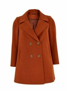 Rust Double Breasted Coat, Rust