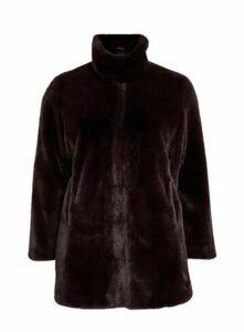 Purple Faux Fur Coat, Purple