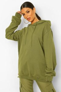 Womens Extreme Oversized Hoodie - green - 14, Green