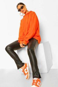 Womens Extreme Oversized Hoodie - orange - 10, Orange