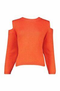Womens Oversized Jumper - orange - L, Orange