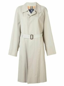 Burberry Pre-Owned belted midi raincoat - Brown