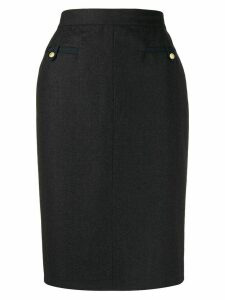 Chanel Pre-Owned 1990s pencil skirt - Grey