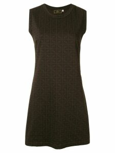 Fendi Pre-Owned Zucca pattern dress - Brown