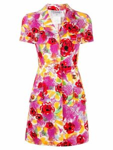 Chanel Pre-Owned floral short-sleeved shirt dress - Multicolour