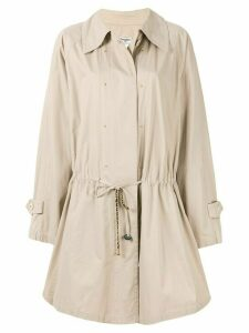 Chanel Pre-Owned flared drawstring short coat - Brown