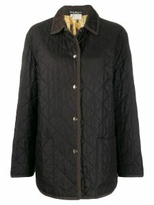 Salvatore Ferragamo Pre-Owned 1990s diamond quilted snap coat - Brown
