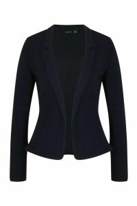 Womens Notch Neck Blazer - navy - 14, Navy