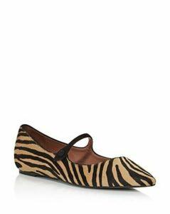 Tabitha Simmons Women's Hermione Zebra-Print Ballet Flats