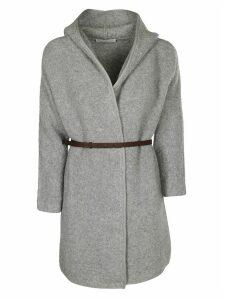 Fabiana Filippi Hooded Belted Coat