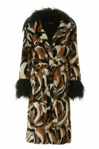 STAUD Coraline Faux Fur Coat