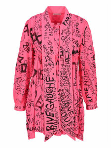Balenciaga Graffiti Print Short Dress