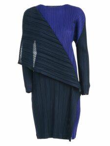 Pleats Please Issey Miyake Dress L/s Crew Neck Hidden Colors