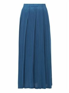 Pleats Please Issey Miyake - Monthly Colours Pleated Midi Skirt - Womens - Blue
