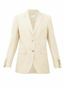 Burberry - Layered-effect Wool-blend Blazer - Womens - Light Beige