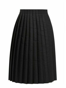 Mm6 Maison Margiela - Pleated Padded Technical Fabric Skirt - Womens - Black