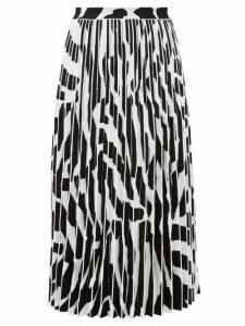 Proenza Schouler - Zebra Jacquard Pleated Midi Skirt - Womens - White Black