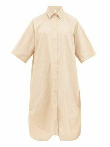 Lee Mathews - Cotton Poplin Shirtdress - Womens - Beige