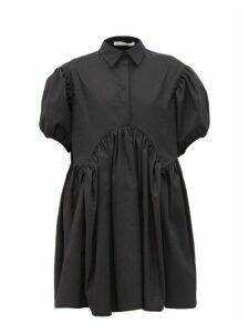 Cecilie Bahnsen - Esther Gathered Cotton-poplin Shirtdress - Womens - Black