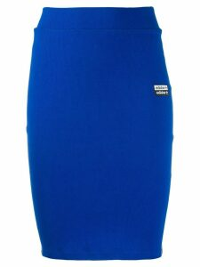 adidas logo lined pencil skirt - Blue