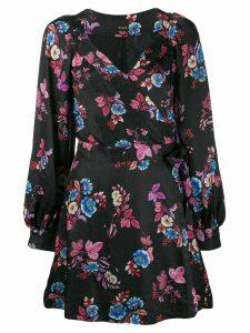 Pinko floral print wrap dress - Black