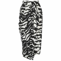 Isabel Marant Fabiana Printed Stretch-silk Midi Skirt