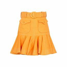 Zimmermann Super Eight Safari Linen Mini Skirt