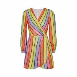 Olivia Rubin Meg Striped Sequin Mini Dress