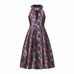 Adrianna Papell Metallic Jacquard Dress