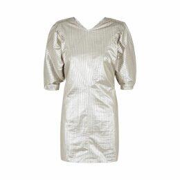 Isabel Marant Radela Silver Lamé Mini Dress