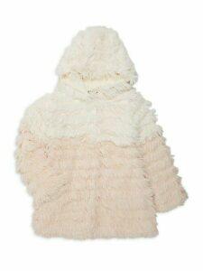 Little Girl's & Girl's Two-Tone Faux Fur Coat