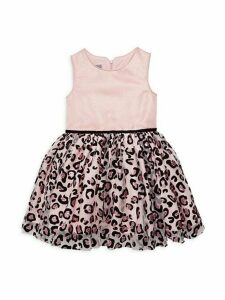 Little Girl's Leopard-Print Dress