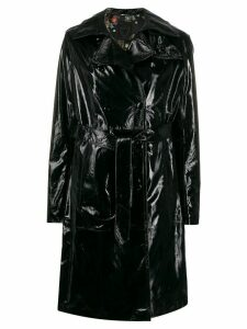 Htc Los Angeles glossy-effect trench coat - Black