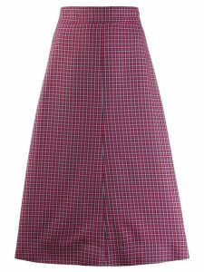 Cédric Charlier flared midi skirt - PINK