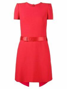 Alexander McQueen short sleeve mini dress - Red