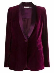 Alice+Olivia Macey velvet slim-fit blazer - PURPLE