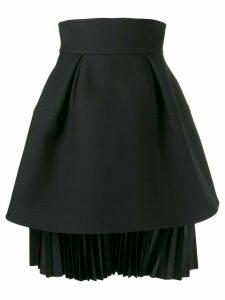 Dice Kayek puffed pleated skirt - Black