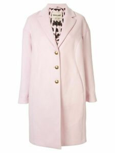 Roberto Cavalli printed lining single breasted coat - PINK